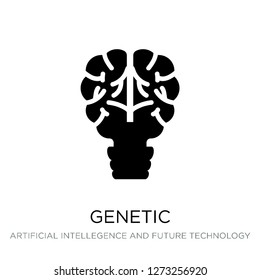 genetic modification icon vector on white background, genetic modification trendy filled icons from Artificial intellegence and future technology collection