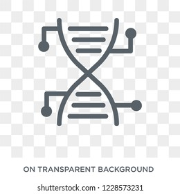 Genetic modification icon.Trendy flat vector Genetic modification icon on transparent background from Artificial Intelligence, Future Technology collection. High quality filled Genetic modification sy