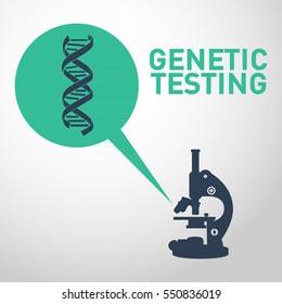 Genetic testing logo vector icon design