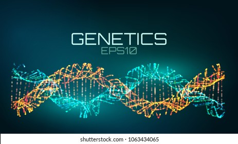 Genetics futuristic technology. genetically modified bio tech helix