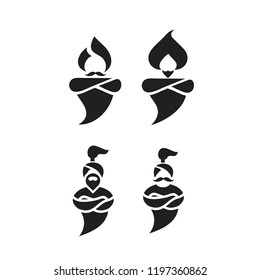 genie logo icon designs vector