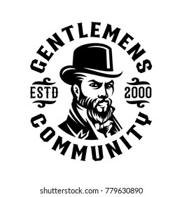 genltemen victorian label logo illustration