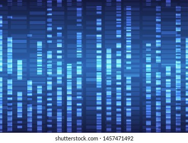 Genomic data analysis visualization concept of digital Internet technology, abstract sense of science and technology. Vector illustration eps 10.