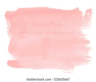 Gentle Pink Watercolor Background