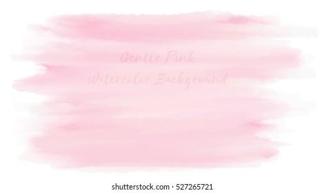 Gentle Pink Watercolor Background