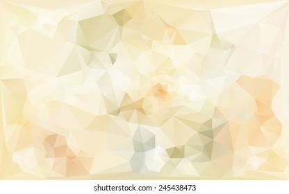 gentle poligonal abstract background in beige tones