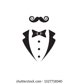Gentleman avatar isolated on white background. Vector flat illustration.