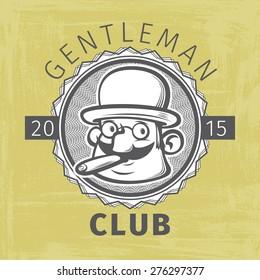 gentleman club logo. vector illustration
