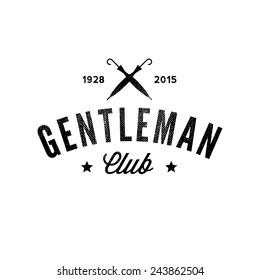 Gentleman club. Vintage logo