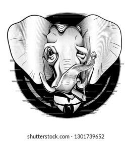 Gentleman Elephant Victorian Millionaire  American Republican Elegant Patriotic Black White