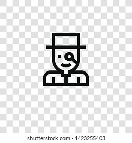 gentleman icon from  collection for mobile concept and web apps icon. Transparent outline, thin line gentleman icon for website design and mobile, app development