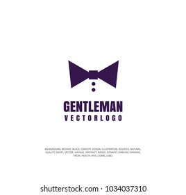 gentleman icon, vector illustration logo concept for men's clothing boutique