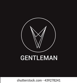 Gentleman Shop Logo Vector Templates Design.