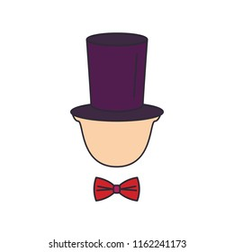Gentleman tophat icon. Cartoon gentleman tophat vector icon for web design isolated on white background