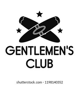Gentlemen cigar club logo. Simple illustration of gentlemen cigar club vector logo for web design isolated on white background
