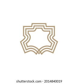 genuine or synthetic leather logo vector icon illustration