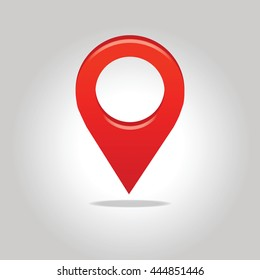 Geo location pin. Map pointer icon.