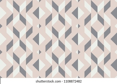 Geo seamless pattern, geometrical ornament, seamless fabric print, pale pastel geometric background, vintage seamless background
