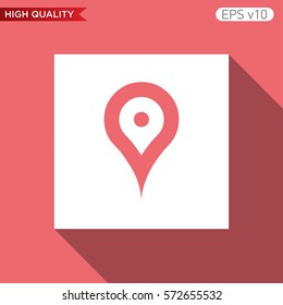 Geo tag icon. Button with geo tag icon. Modern UI vector.