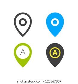 Geo Tag Pin Icon Vector Set