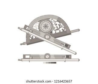 Geodesy. Topography. Astrolabe. History of inventions. Measuring instrument. Construction work.