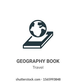 Geography book vector icon on white background. Flat vector geography book icon symbol sign from modern travel collection for mobile concept and web apps design.
