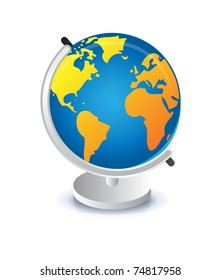 Geography earth globe icon illustration