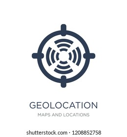 Geolocation icon. Trendy flat vector Geolocation icon on white background from Maps and Locations collection, vector illustration can be use for web and mobile, eps10