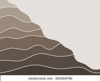 Geologic layered slope. Sedimentary structure.