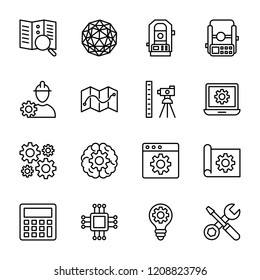 Geological research icons