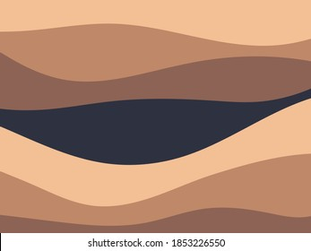 Geological subsurface. Layered of rock and organic strata. Geologic cross section.