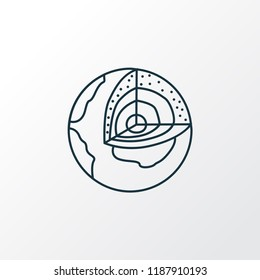 Geology icon line symbol. Premium quality isolated earth structure element in trendy style.
