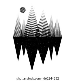 Geomerty design composition.Vector geometric triangle background, abstract mountains.Conceptual background, interior print.Flat design, with minimal elements.Use for card, poster, brochure,banner,web.