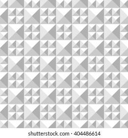 Geometric 3D regular structure seamless pattern. Vector illustration.
