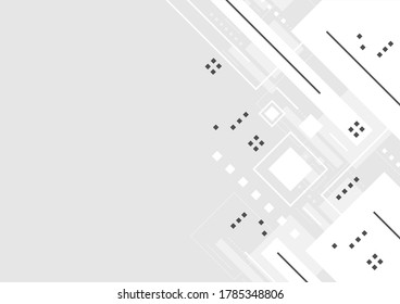 geometric abstract background design, digital technology banner layout