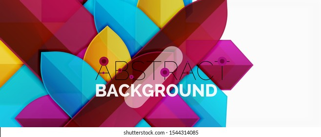 Geometric abstract background. Dynamic shapes composition. Vector illustration