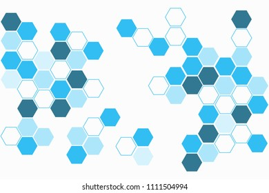 Geometric abstract background with hexagon molecule, technology background, science style, Medical design, dot clusters, Polygonal background, Vector illustration.