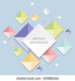 Geometric abstract background. Infographic template.