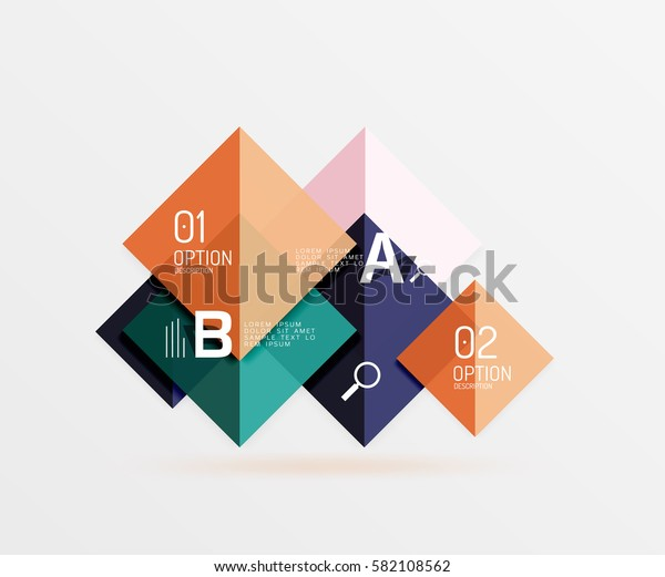 Geometric abstract background with option infographic. Vector template background for workflow layout, diagram, number options or web design