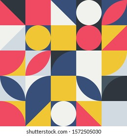 geometric abstract background, poster design, simple shapes in complex geometric form, vector illustration, idea for your design