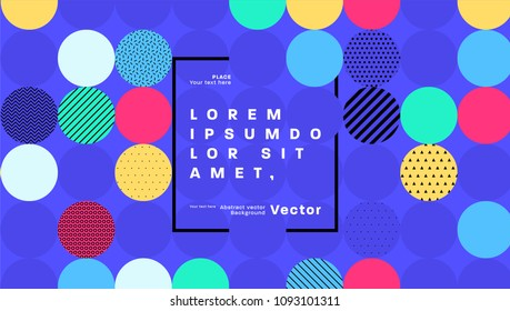 Geometric abstract background with trendy patterns. Vector eps10 illustration