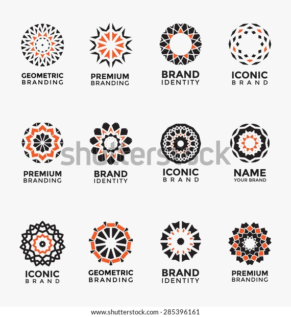 geometric abstract brand identity icon set stock vector royalty free 285396161 https www shutterstock com image vector geometric abstract brand identity icon set 285396161