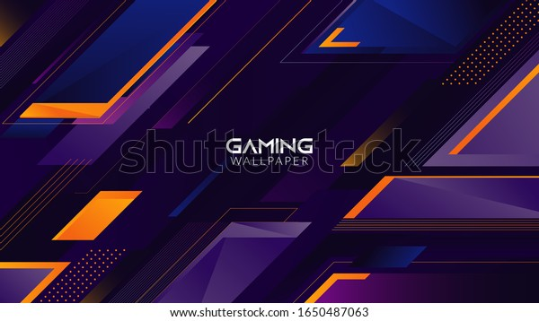 Geometric Abstract Gaming Wallpaper Background 4k Stock Vector Royalty Free 1650487063