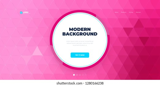 Geometric abstract gradient background design. Triangle shape abstract vector composition on background. Futuristic design posters. Eps10 vector.