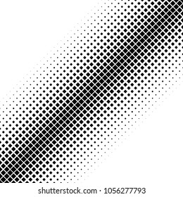 Geometric abstract halftone square pattern background - vector design with diagonal squares