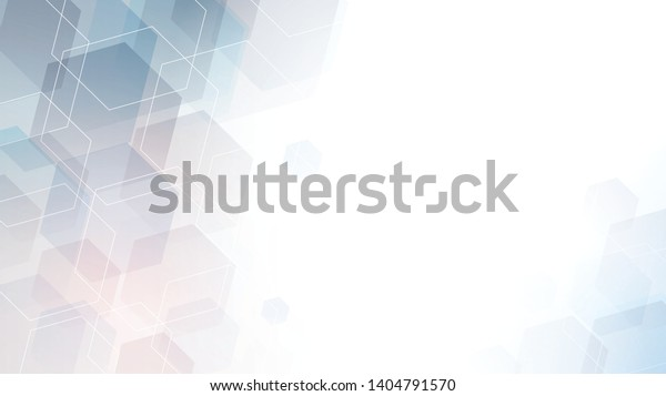 Geometric abstract hexagon technology. Vector eps 10