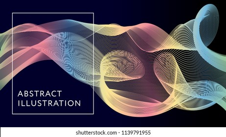 Geometric Abstract Illustration Background Vector Shape Banner Design