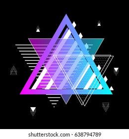 Geometric Abstract illustration with triangles.
