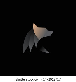 geometric abstract logo with a Black Bear to be the main icon, this is also look modern and clean but unique. available on vector format and trasnparant background!