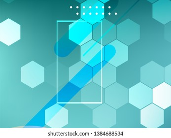 Geometric abstract medical background. Scientific concept for your design. Medical, technology, science background. Vector illustration